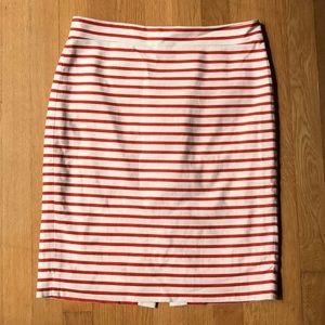 J. Crew No. 2 Pencil Skirt in striped linen